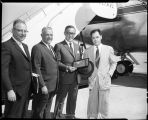 Music - Benny Goodman arrives at airport